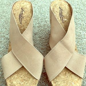 Lucky Brand wedge sandal - size 8.5, never worn.